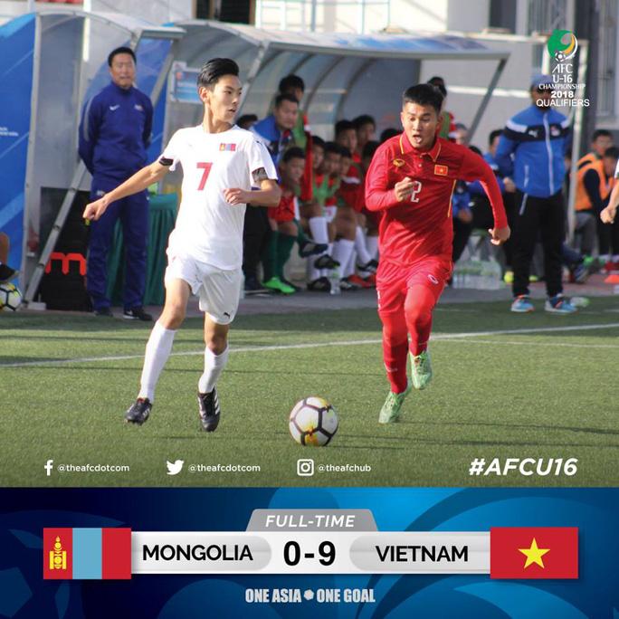 Thắng đậm Mông Cổ, U16 Việt Nam vẫn phải hạ Úc - Ảnh 1.
