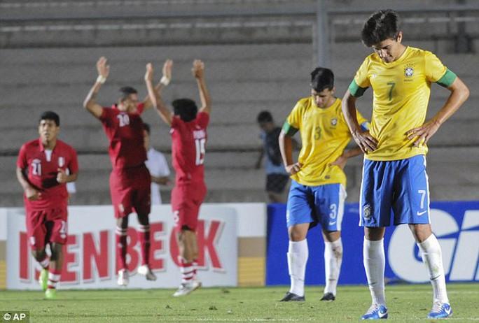 Nỗi thất vọng của U20 Brazil khi không thể giành vé dự World Cup U20, giải đấu mà họ là á quân