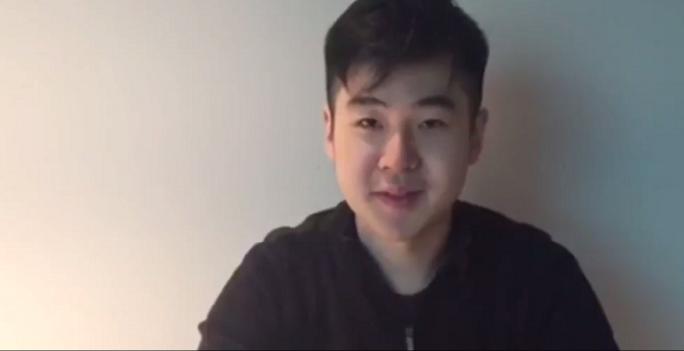 Chàng trai tự nhận là Kim Han Sol xuất hiện trong một đoạn video dài 40 giây. Ảnh: Channel NewsAsia