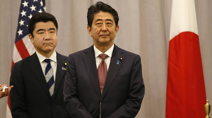 Thủ tướng Nhật Bản Shinzo Abe. Ảnh: AP