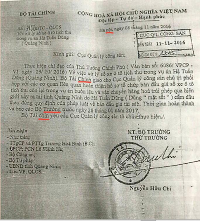 Mạo danh Bộ Tài chính lừa bán thanh lý ô tô vụ Dũng mặt sắt - Ảnh 2.
