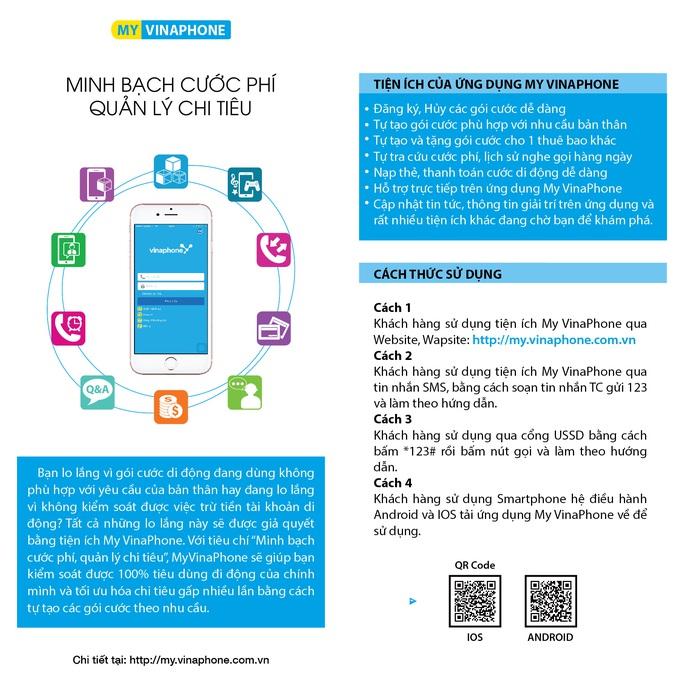 My VinaPhone giúp khách hàng chủ động đăng ký/hủy dịch vụ với thao tác đơn giản