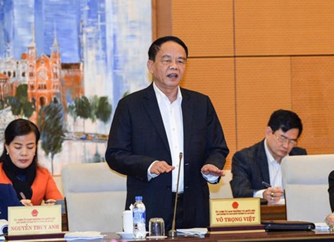 Chủ nhiệm Uỷ ban Quốc phòng - An ninh Võ Trọng Việt nói về cơ bản rừng đã xoá sổ - Ảnh: Nguyễn Nam