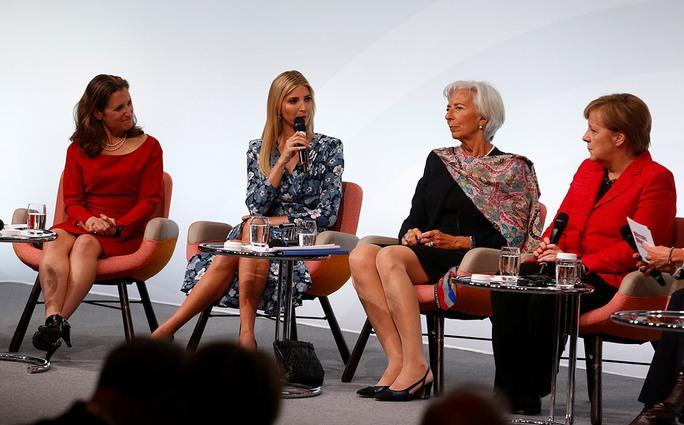 Cô Ivanka Trump tại Hội nghị Phụ nữ Thượng đỉnh G20. Ảnh: REUTERS
