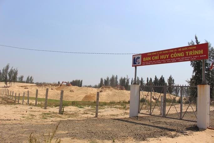 Sân golf đang được xây dựng trên diện tích rừng phòng hộ chưa được chuyển mục đích