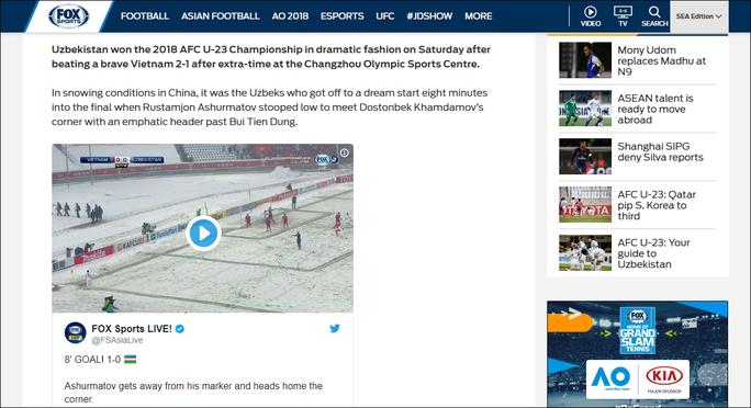 Truyền thông nước ngoài ca ngợi đội bóng dũng mãnh U23 Việt Nam - Ảnh 1.