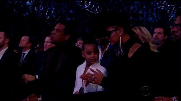 Con gái vợ chồng Beyonce thu hút tại Grammy 2018 - Ảnh 1.