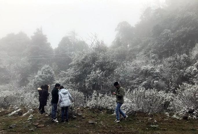 Tuyết rơi dày tại thác Bạc, Ô Quí Hồ (Sa Pa) sáng 31-1 - Ảnh 9.