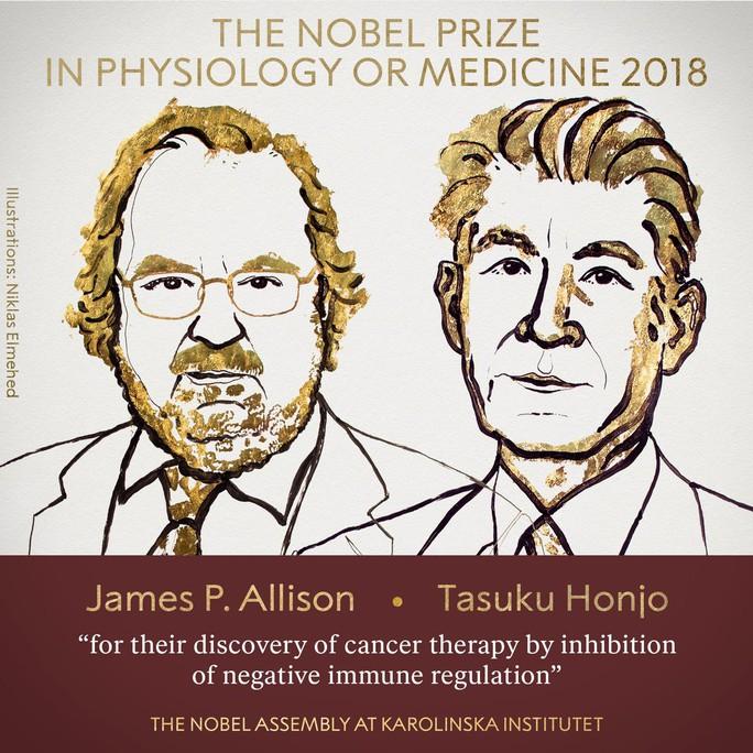 Nobel Y học vinh danh công trình đột phá trị ung thư - Ảnh 2.