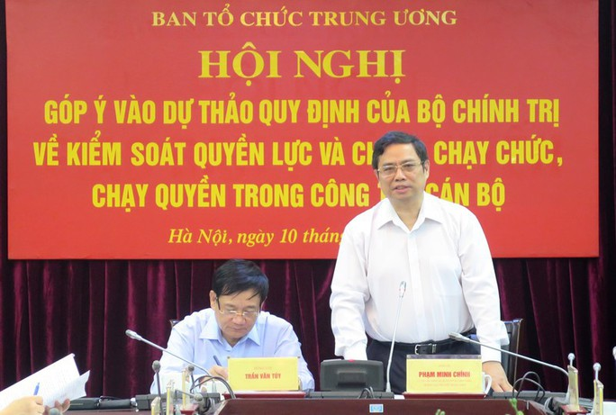 Ông Phạm Minh Chính: Xây dựng cơ chế kiểm soát quyền lực, chống chạy chức, chạy quyền - Ảnh 1.