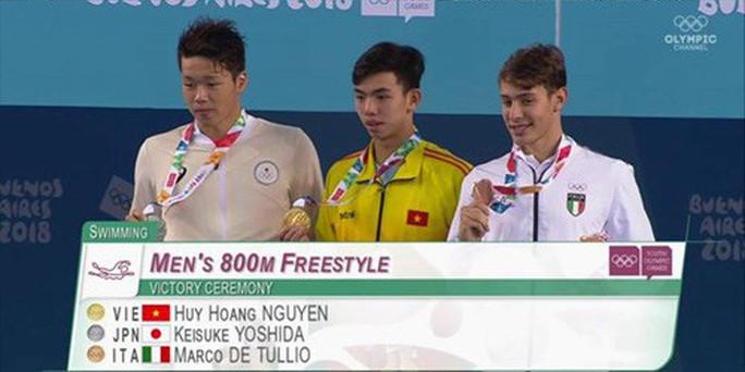 Kình ngư Nguyễn Huy Hoàng giành HCV 800m tại Thế vận hội trẻ - Ảnh 3.
