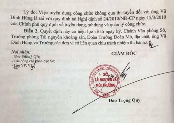 Nhiều cán bộ Sở TN-MT Thanh Hóa mất ghế sau rà soát - Ảnh 2.