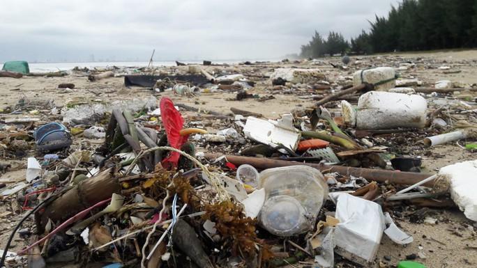 Hàng chục tấn rác bủa vây 9 km bờ biển Đà Nẵng - Ảnh 9.