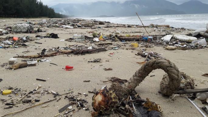 Hàng chục tấn rác bủa vây 9 km bờ biển Đà Nẵng - Ảnh 2.