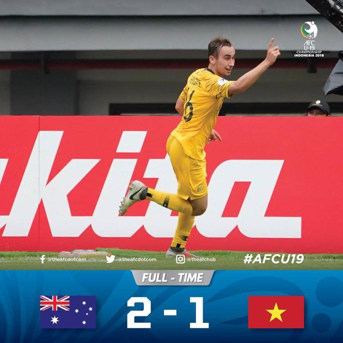 Video clip: Thua Úc 1-2, U19 Việt Nam chính thức bị loại - Ảnh 1.