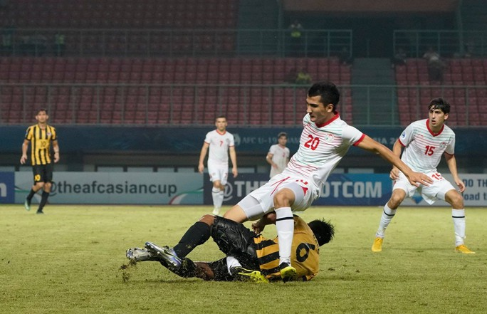 Cận cảnh pha tắc bóng gãy chân đối thủ của hậu vệ U19 Malaysia - Ảnh 2.