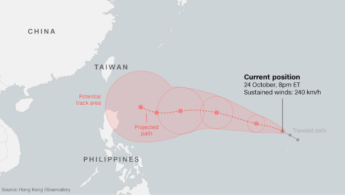 Siêu bão mạnh kinh hồn ngang ngửa Haiyan tiến về châu Á - Ảnh 3.