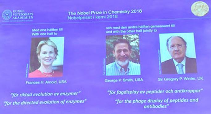 Nobel Hóa học 2018: Nghiên cứu mở đường về protein - Ảnh 1.