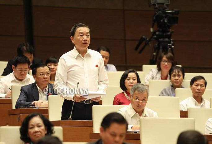 Bộ trưởng Tô Lâm trả lời chất vấn về vụ đổi 100 USD bị phạt 90 triệu đồng - Ảnh 1.