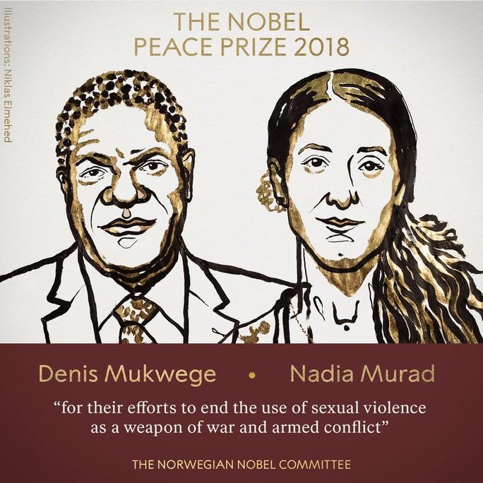 Nobel Hòa bình 2018 vinh danh chiến binh chống bạo lực tình dục - Ảnh 3.