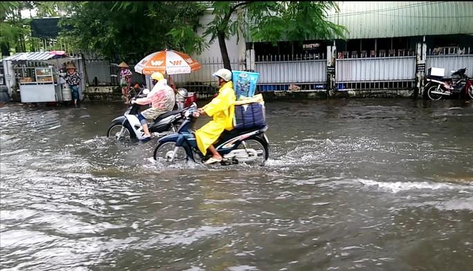 """Cà Mau: Đường biến thành """"sông"""" sau cơn mưa như trút nước - Ảnh 4."""