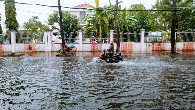 """Cà Mau: Đường biến thành """"sông"""" sau cơn mưa như trút nước - Ảnh 1."""