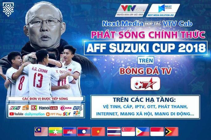 Next Media cho các đài tiếp sóng miễn phí AFF Cup 2018 - Ảnh 1.