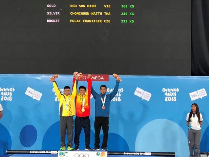 Ngô Sơn Đỉnh giành HCV cử tạ Olympic trẻ 2018 - Ảnh 1.
