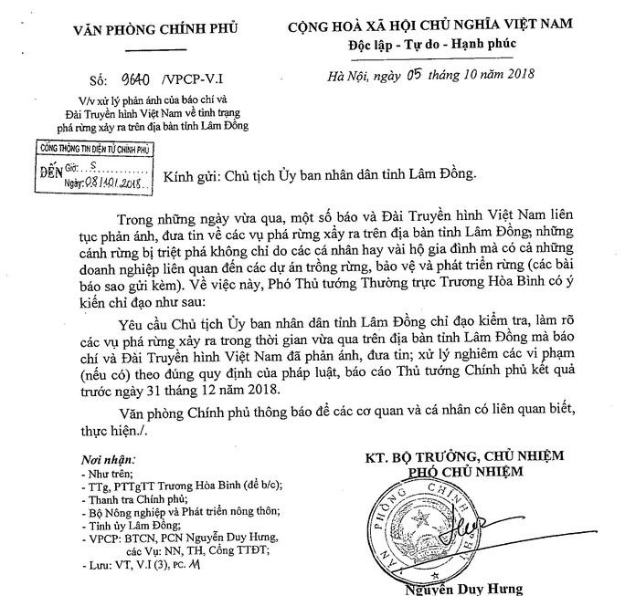 Phó Thủ tướng chỉ đạo điều tra làm rõ vụ phá rừng ở Lâm Đồng - Ảnh 1.