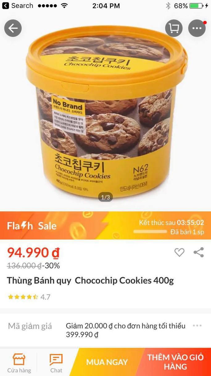 Quảng cáo Flash sale, Lazada bán bánh quy giá trên trời?! - Ảnh 1.