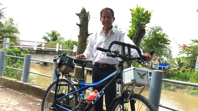"""Lão nông chế tạo xe đạp chạy bằng máy cắt cỏ """"độc nhất vô nhị"""" - Ảnh 3."""