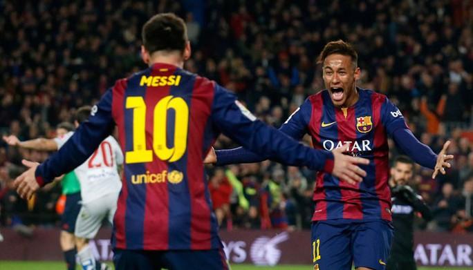 Hậu vệ Atletico Madrid dùng Messi để mỉa mai Neymar - Ảnh 1.