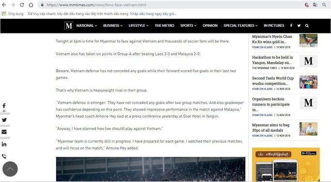 Báo Myanmar Times lo sợ hàng thủ tuyển Việt Nam - Ảnh 2.