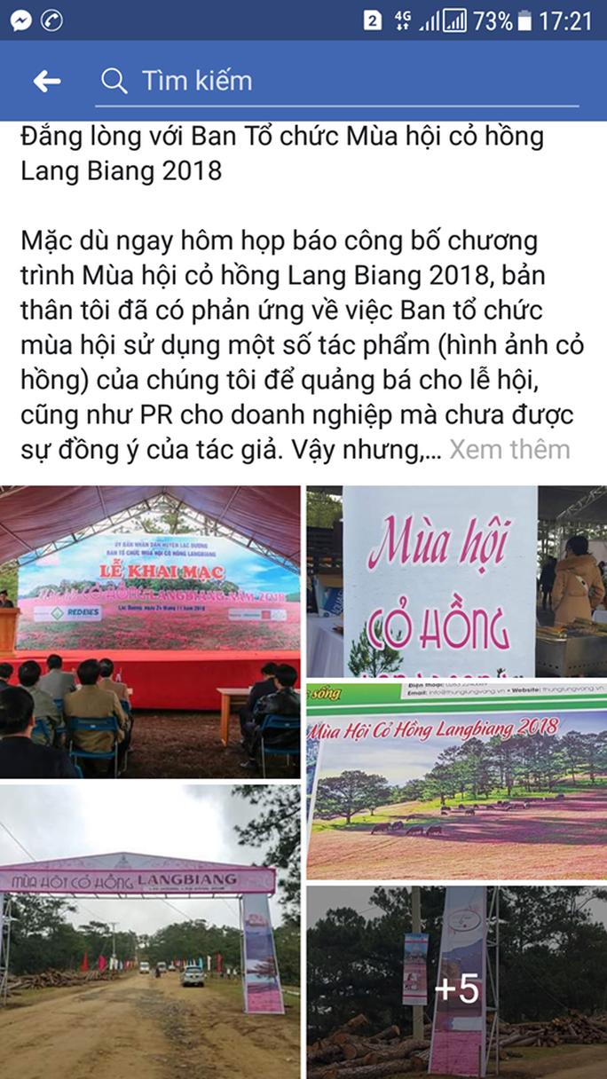 """Ban tổ chức Mùa hội cỏ hồng Langbiang bị tố """"xài chùa"""" hình ảnh - Ảnh 2."""