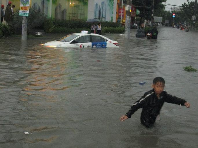 Ảnh hưởng bão số 9: TP HCM mưa lớn, cây gãy đổ đè chết người đi đường - Ảnh 5.