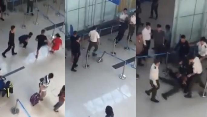 Cấm bay 3 người đánh nhân viên hàng không sân bay Thọ Xuân - Ảnh 1.