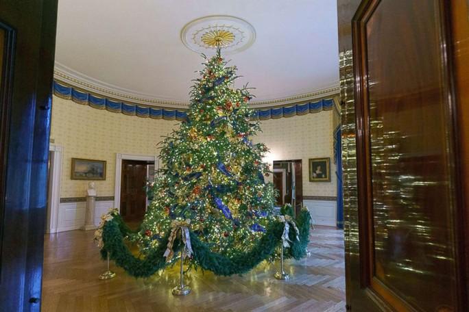 Bà Trump bị chỉ trích vì những cây thông Giáng sinh đỏ rực trong Nhà Trắng - Ảnh 4.