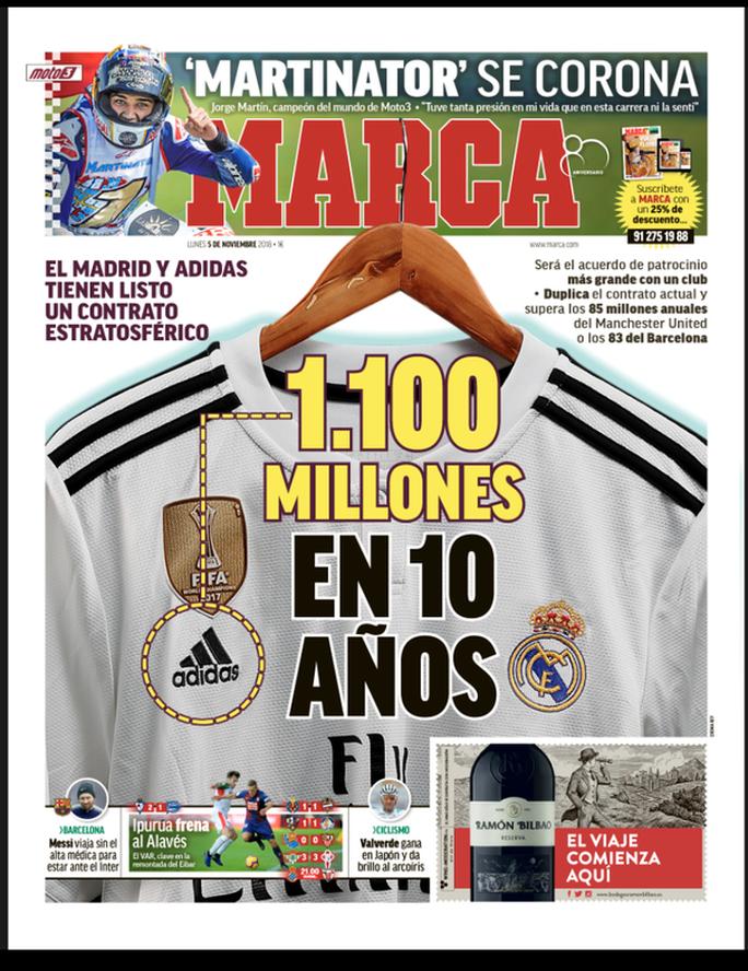 Adidas tài trợ khủng 1,1 tỉ euro cho Real Madrid - Ảnh 4.