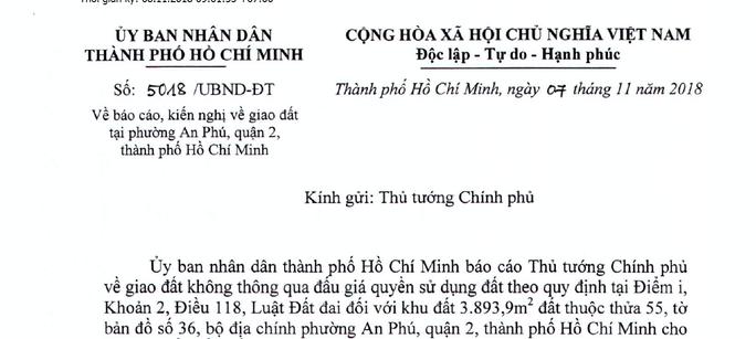 TP HCM xin Chính phủ không đấu giá một khu đất ở quận 2 - Ảnh 1.