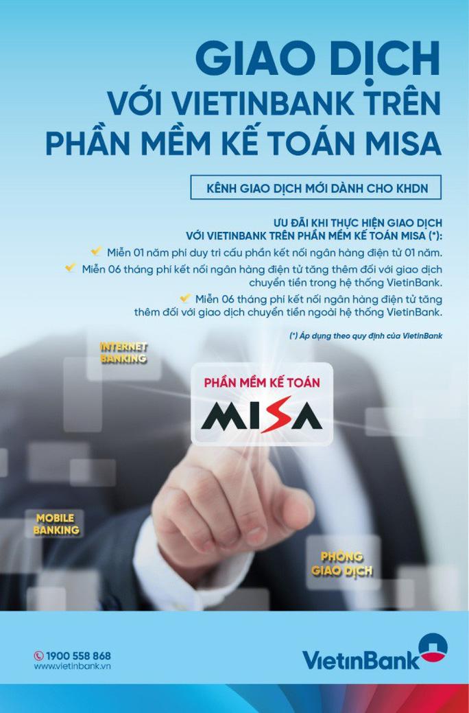 VietinBank thí điểm kết nối ngân hàng điện tử trên phần mềm kế toán MISA - Ảnh 1.
