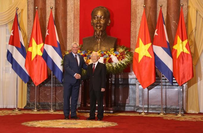 Cận cảnh Tổng Bí thư, Chủ tịch nước Nguyễn Phú Trọng đón Chủ tịch Cuba - Ảnh 6.