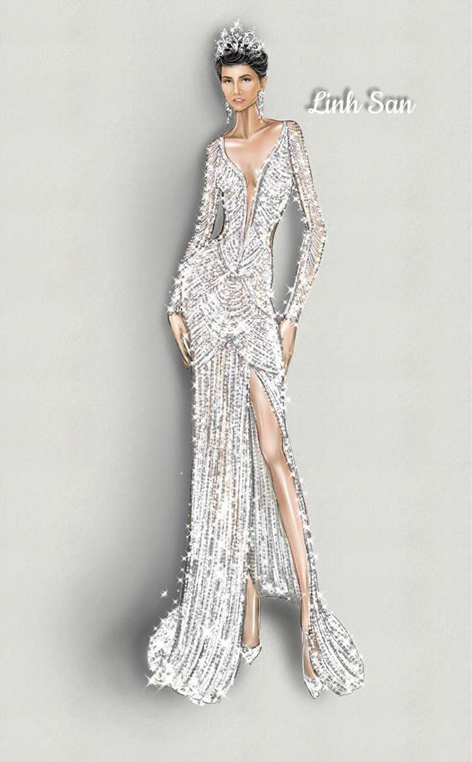 Chiếc váy ấn tượng của H'hen Niê đính hơn 3.000 viên đá quí - Ảnh 4.