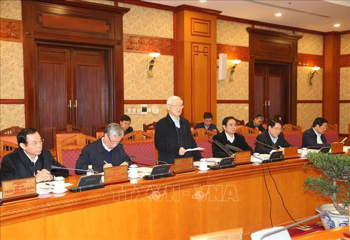 Tổng Bí thư, Chủ tịch nước chủ trì cuộc họp Ban Bí thư - Ảnh 1.