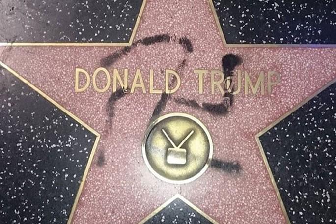 Bắt kẻ phá hoại ngôi sao của Tổng thống Donald Trump - Ảnh 1.