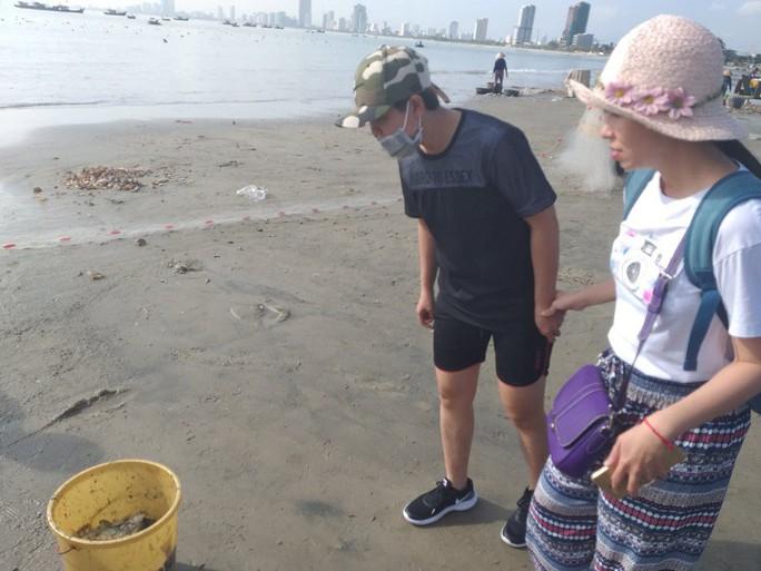 Ngợp với cảnh đầy ắp cá đối áp sát bờ biển Đà Nẵng - Ảnh 5.