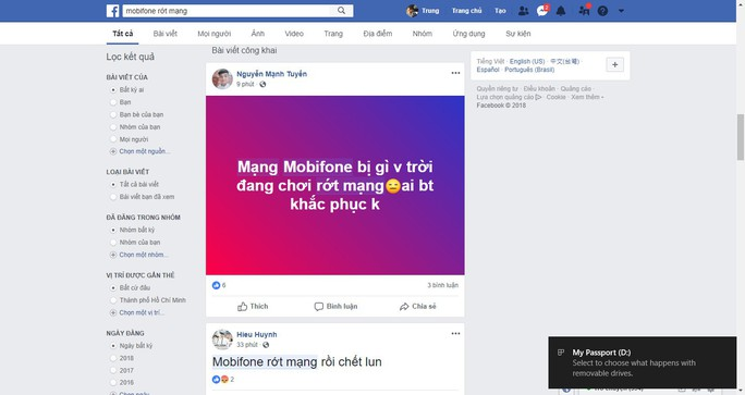 Mạng di động MobiFone bị sập tại khu vực TP HCM, Hà Nội - Ảnh 1.