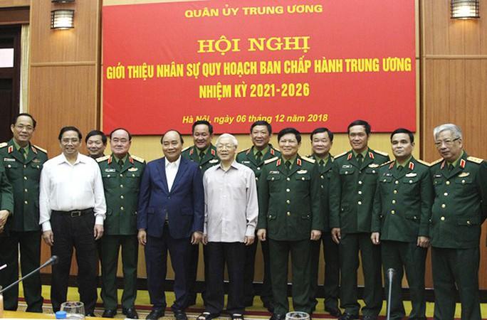 Tổng Bí thư, Chủ tịch nước chủ trì hội nghị giới thiệu nhân sự quân đội vào Trung ương khóa XIII - Ảnh 2.
