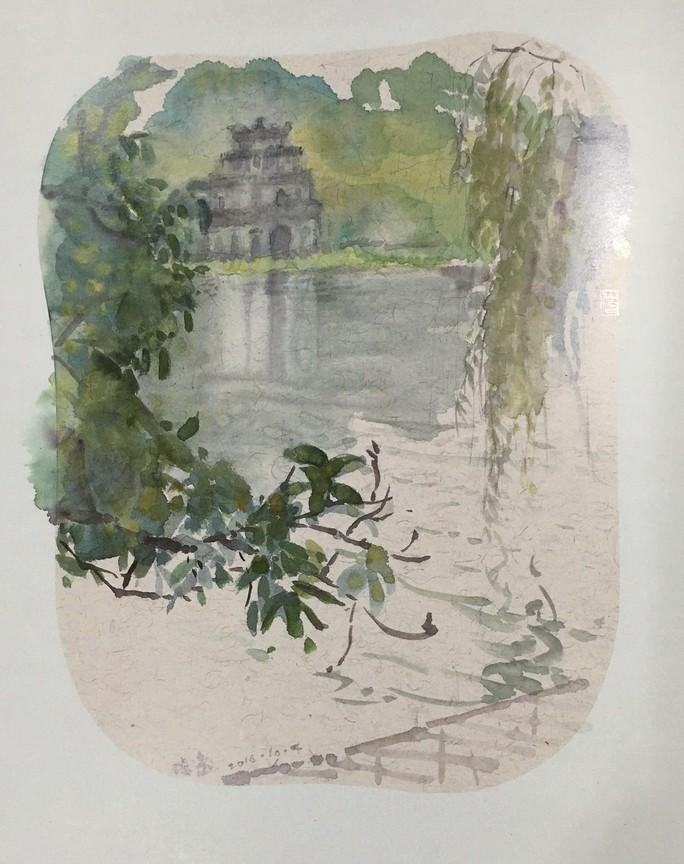 Họa sĩ Trung Quốc đam mê vẽ Việt Nam - Ảnh 3.