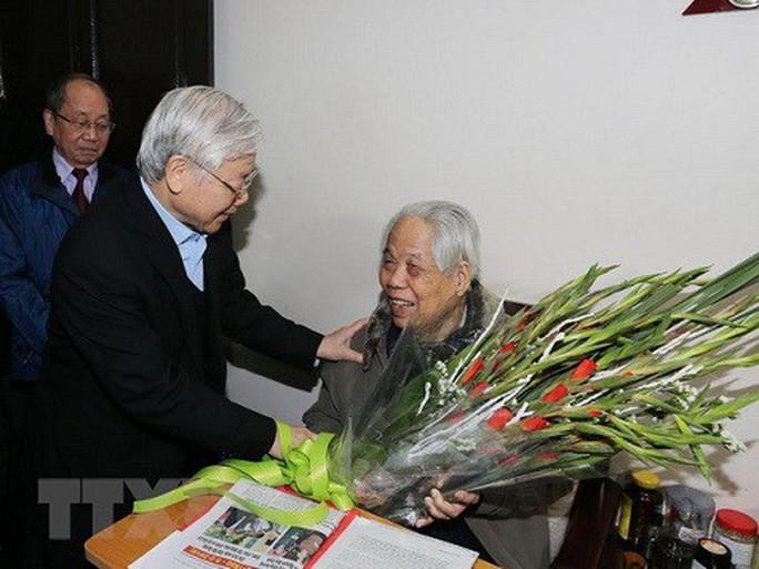 Tổng Bí thư, Chủ tịch nước chúc thọ nguyên Tổng Bí thư Đỗ Mười 101 tuổi - Ảnh 1.