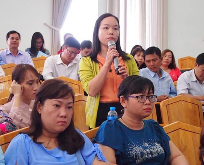 Lãnh đạo quận đối thoại với đại biểu dự đại hội Công đoàn - Ảnh 1.